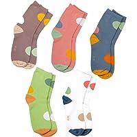 MAIWA Kids calcetines de algodón sin costuras para las niñas niños 5 unidades