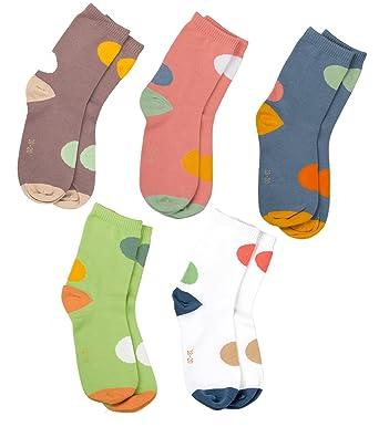 MAIWA Kids calcetines de algodón sin costuras para las niñas niños 5 unidades: Amazon.es: Ropa y accesorios