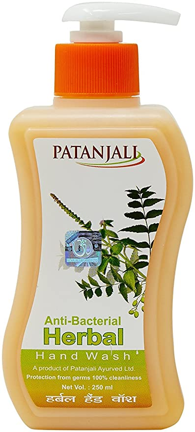 Patanjali Herbal Anti Bacterial Hand Wash 250 Ml Amazon In