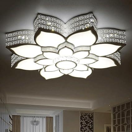 FHK, lámpara de luces circulares sala de estar dormitorio de techo del LED minimalista moderna iluminación de la lámpara del comedor en forma de flor ...