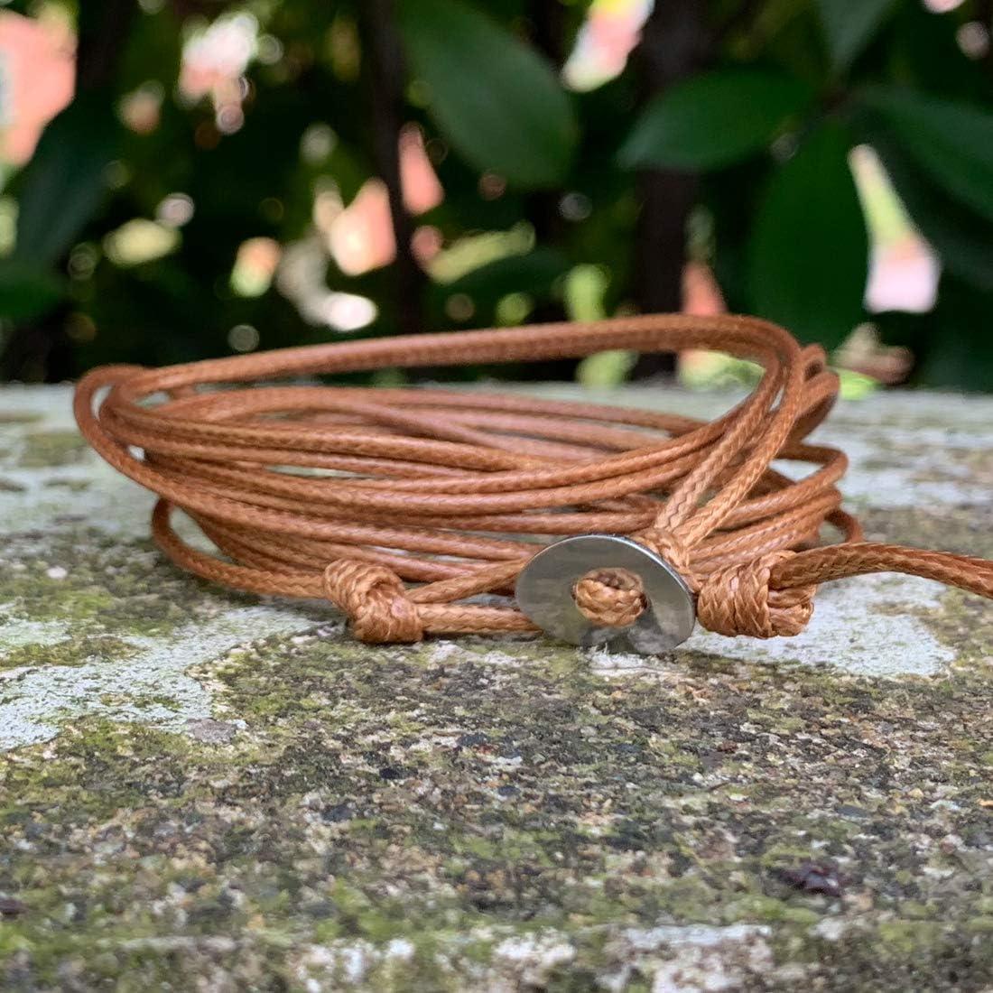 YGLINE Handmade Natural Labradorite//Ocean Jasper//ite Stone Druzy 5 Strands Wraps Boho Statement Women Bracelet Collection