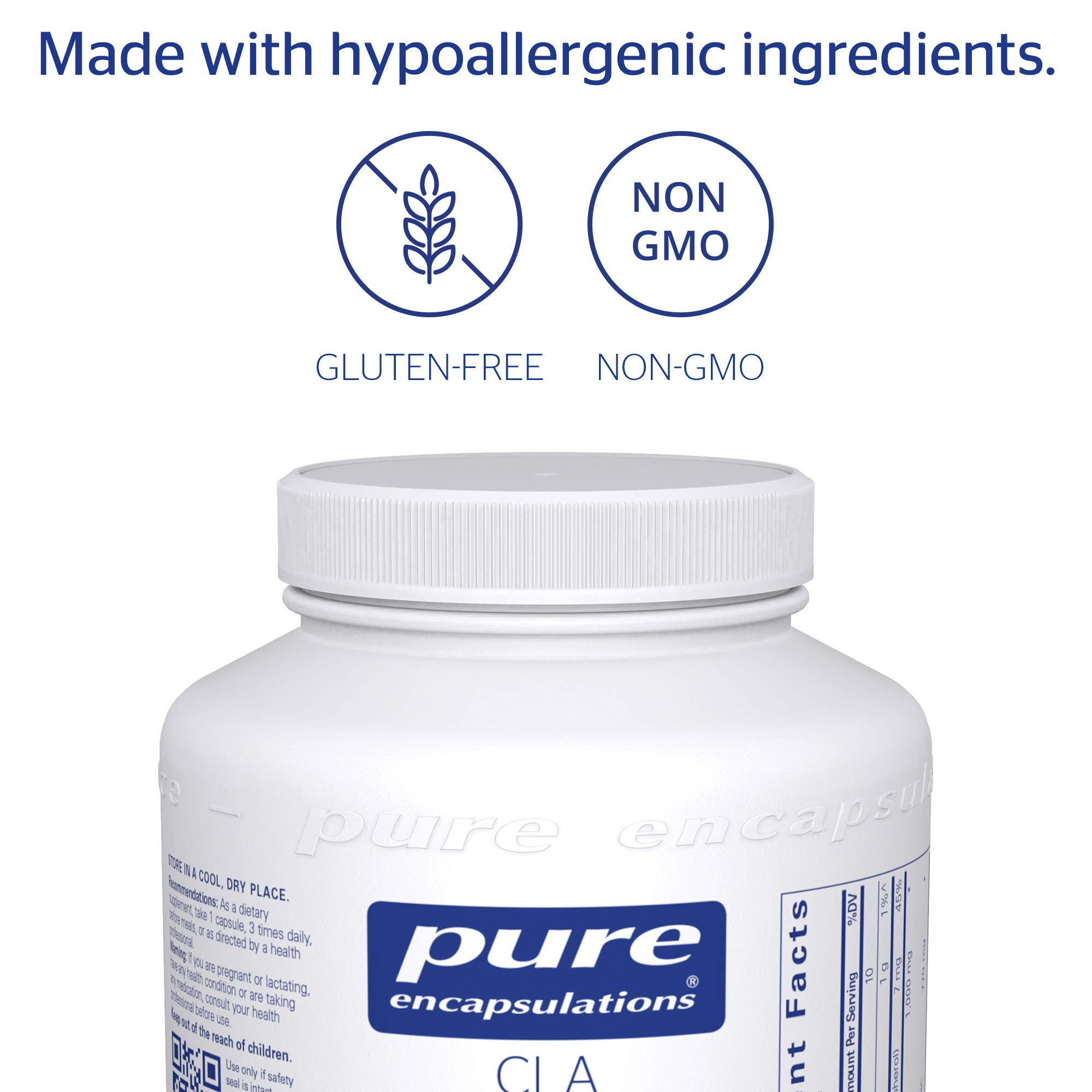 Pure Encapsulations - CLA (Conjugated Linoleic Acid) 1,000 mg - Promotes Healthy Body Composition with Healthy Diet and Exercise* - 180 Softgel Capsules by Pure Encapsulations (Image #4)