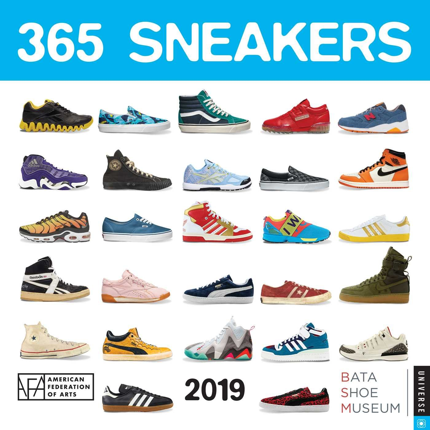365 Sneakers 2019 Wall Calendar: Universe Publishing