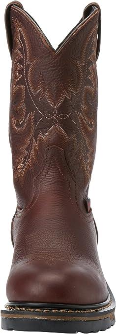 Tony Lama Mens Harlingen Pullon 11 Height | Foot TAN Cheyenne Waterproof Brown Cowboy Leather Boot TW1018 Pullon Western Boots