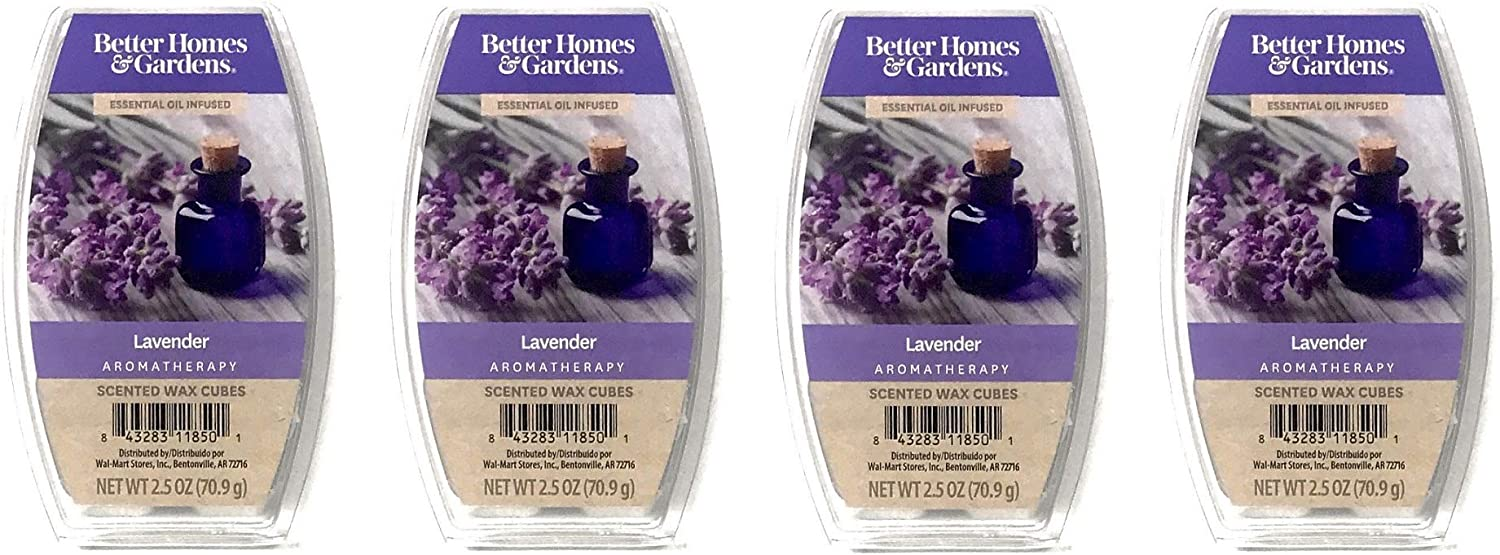 Better Homes & Gardens Aromatherapy Essential Oil Infused Wax Melts - 2.5 OZ - 4 Pack (Lavender)