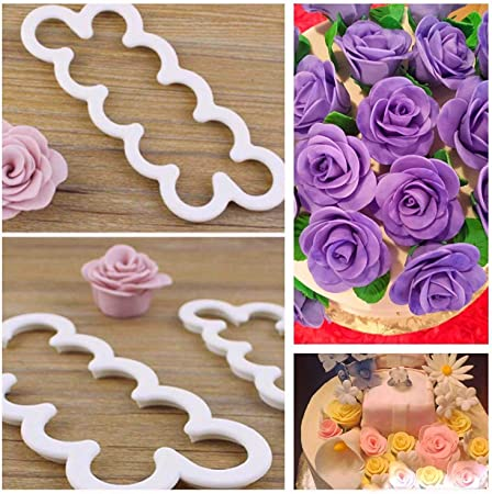 Sugar And Spice Kitchens Rose Fondant Cutters Edible Decorations Pro Cake Decorating Gum Paste Flowers Rose Kit Ever 3 Steps Cookie Cutters Supplies