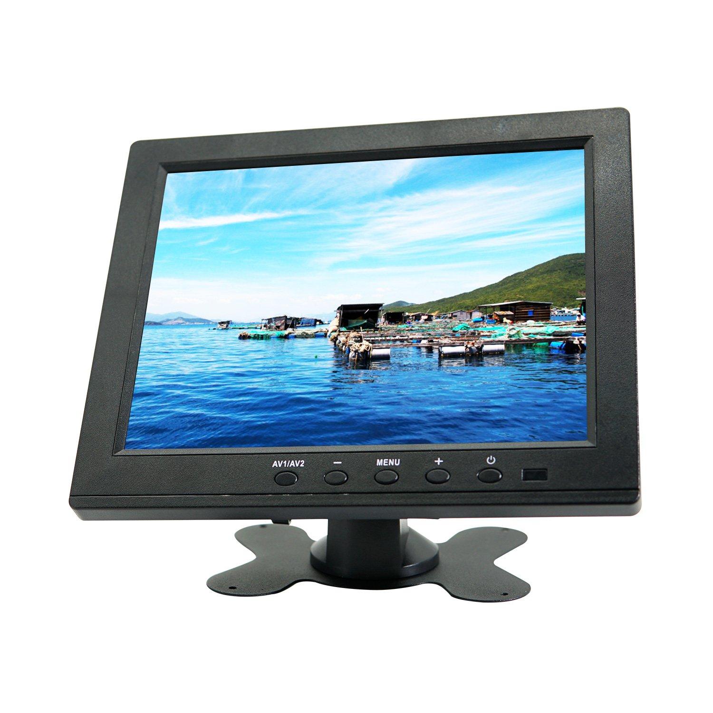 WIMAXIT 10.1 inch HDMI VGA Full HD IPS 1920x1080 Resolution Monitor for PC, Camera, CCTV Surveillance Monitors