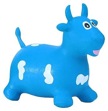 HAPPY GIAMPY Vaca Azul Juego Inflable: Amazon.es: Juguetes y ...
