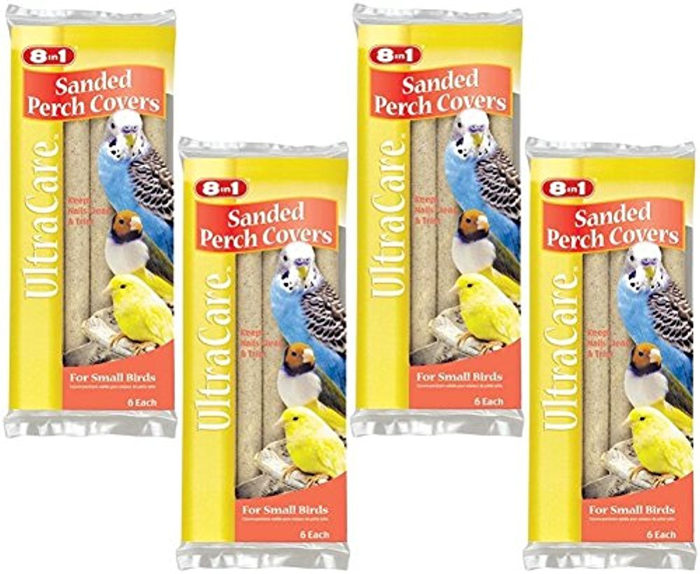 8 in 1 Pet Products Sanded Bird Perches Covers, Small - 24 Total(4 Packs with 6 per Pack) N/A