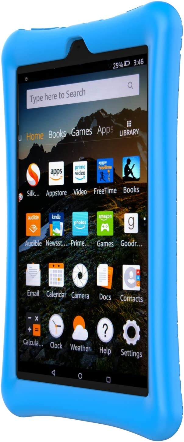 XtremPro 11191  Fire HD Blue Case Silicone Rubber Protective Gel Hard Cover