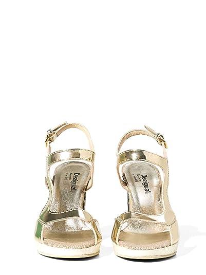 Desigual 72SSGA9 Sandalen mit Absatz Frauen Gold 37 3C8xX