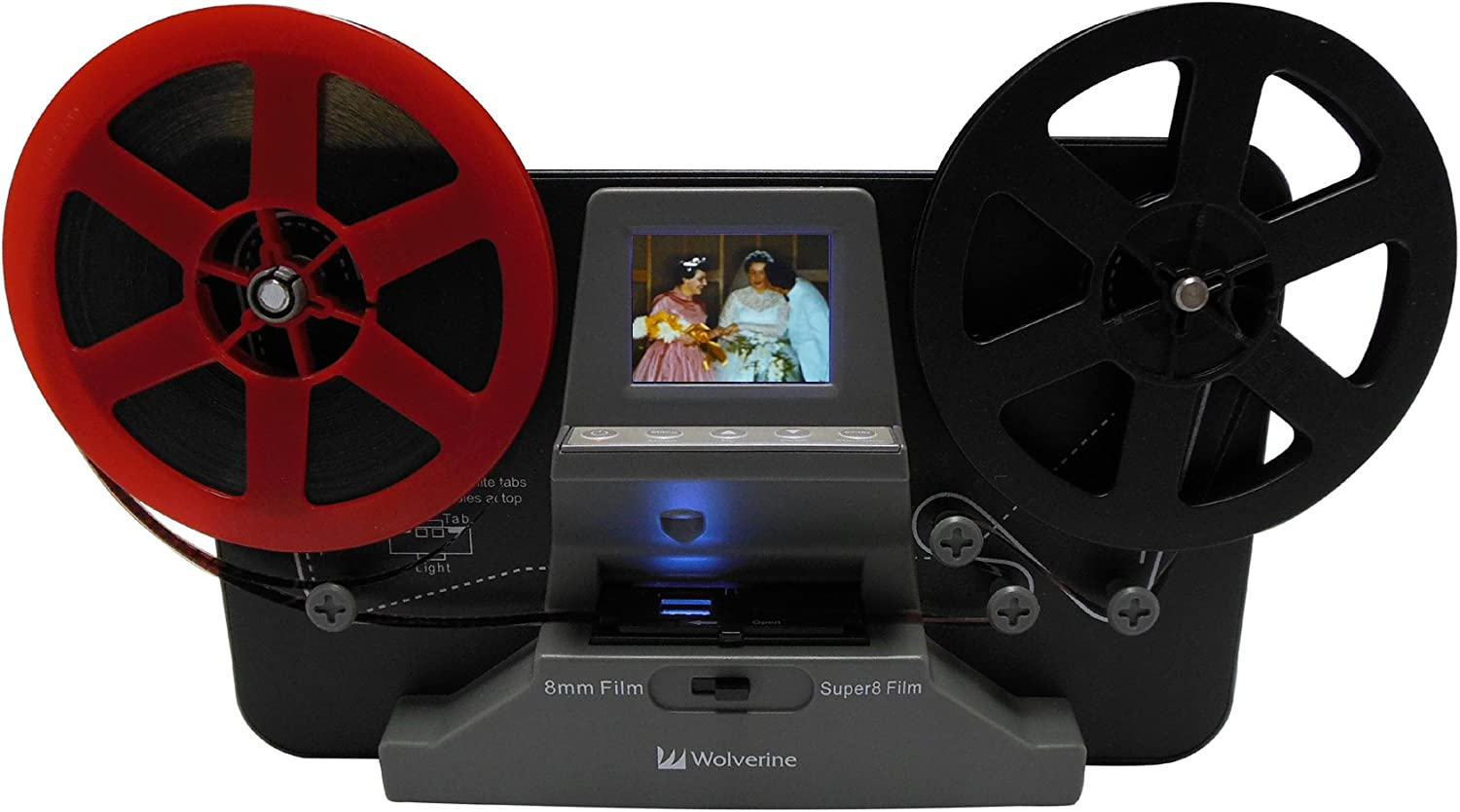 Wolverine 8mm and Super 8 Film Reel Converter Scanner to Convert Film into Digital Videos. Frame by Frame Scanning to Convert 3 inch and 5 inch 8mm Super 8 Film reels into 720P Digital: Camera & Photo