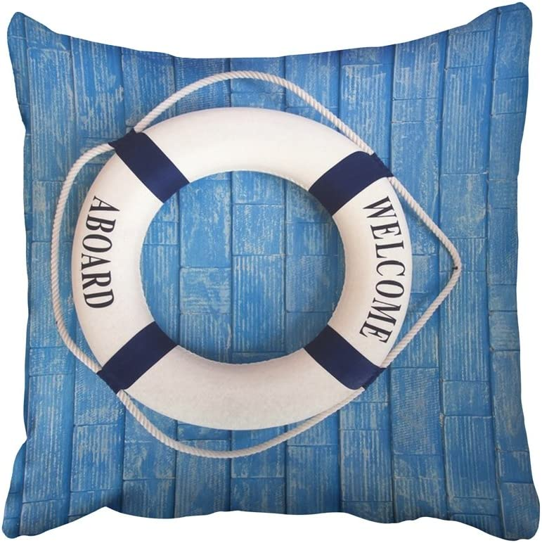 Boat maritime Life Buoy Ring Belt s Ship Lifebelt Welcome On board with Shells