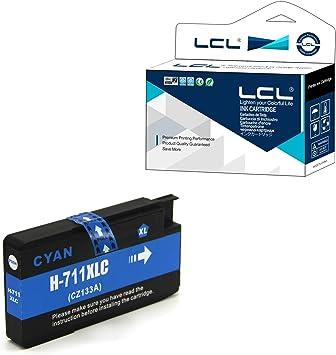LCL Cartucho de Tinta Compatible 711XL 711 XL CZ130A Pigment (1Cian) Reemplazo para HP Designjet T120 24 T120 610 T520 24 T520 36 T520 610 T520 914: Amazon.es: Electrónica