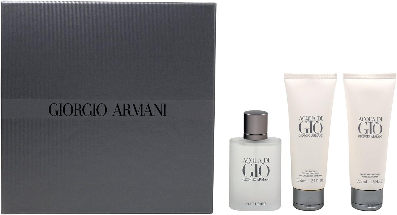 Cofanetto uomo ACQUA DI GIO' PROFUMO GIORGIO ARMANI edp 75ml + after shave balm 75ml + shower gel 75ml