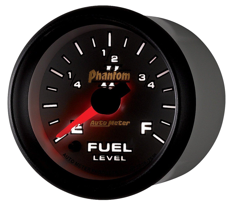 Auto Meter 7510 Phantom II 2-1/16'' Universal Stepper Full Sweep Fuel Level Programmable Empty - Full Range Gauge by Auto Meter (Image #8)