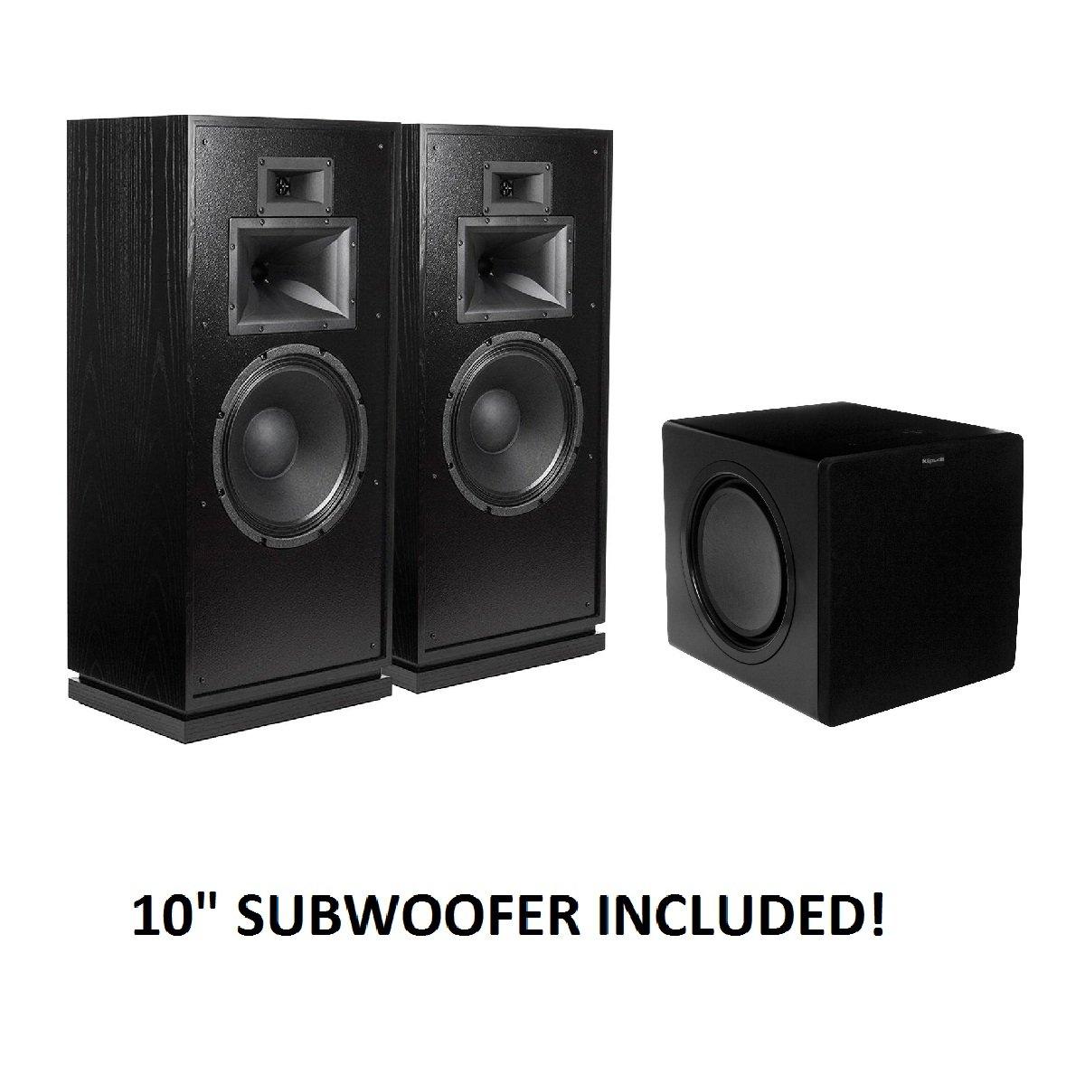 Klipsch Forte III Heritage Series Speakers (Black) with