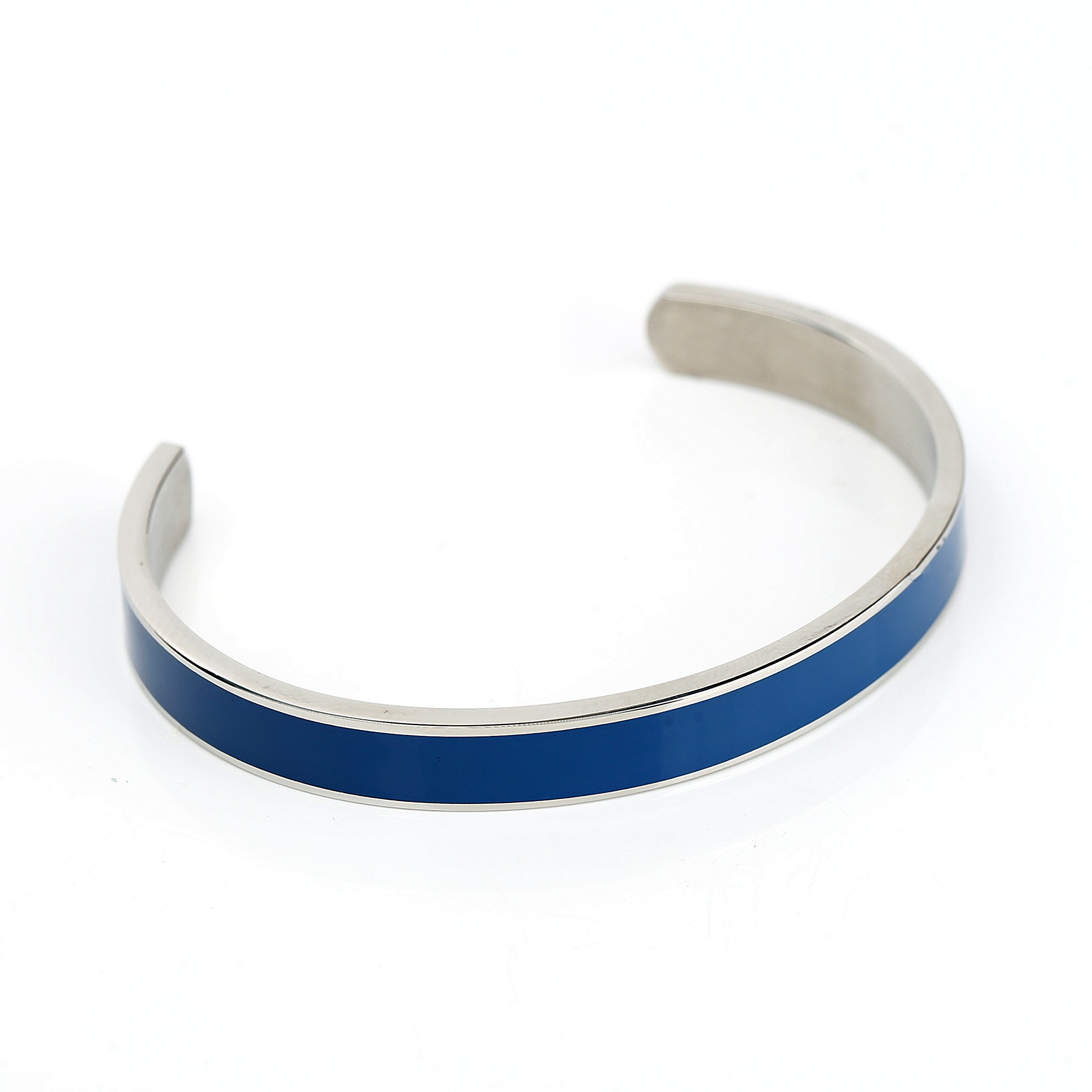 United Elegance Stylish Designer Bracelet with Exquisite Midnight Blue Inlay