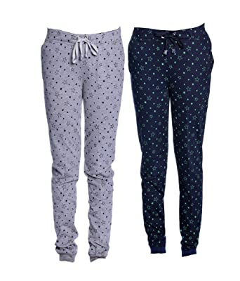 e019013a78d VIMAL Women s Cotton Trackpants - Set of 2  Amazon.in  Clothing ...