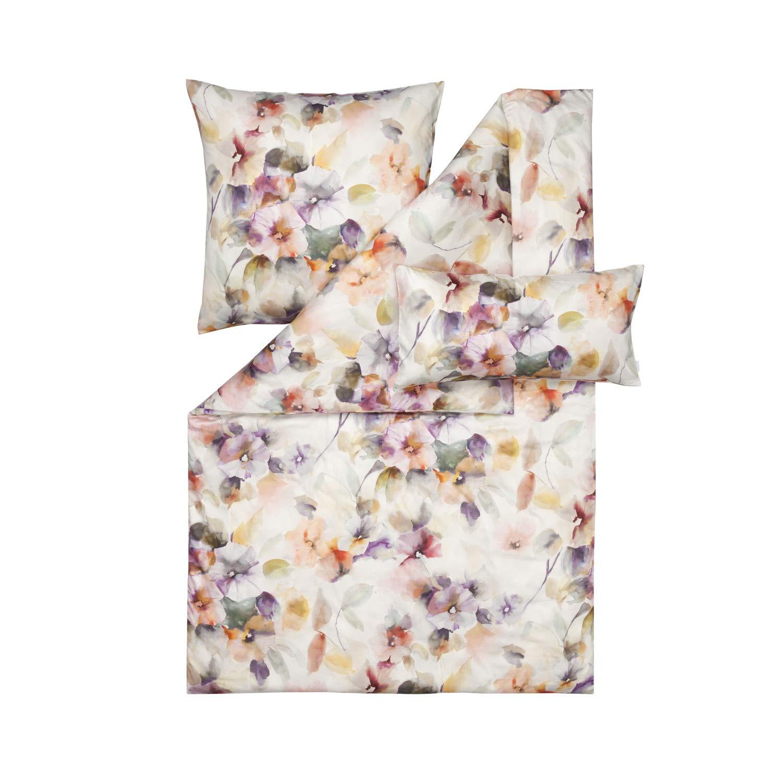 Estella Mako Satin Bettwäsche 5 teilig Bettbezug 200 x 200 cm Kopfkissenbezug 2 x 80 x 80 cm + 2 x 40 x 80 cm Vivian 7345055-985 Multicolor