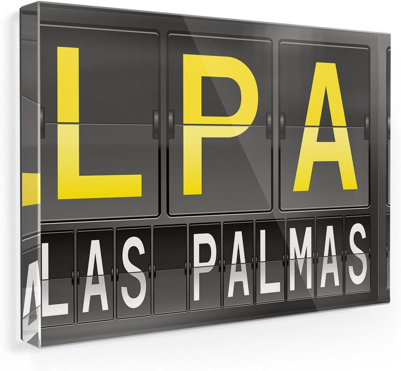Imán para nevera LPA aeropuerto código para las palmas – Neonblond: Amazon.es: Hogar
