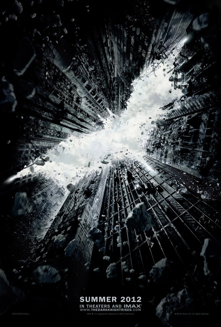 THE DARK KNIGHT RISES MOVIE POSTER 2 Sided ORIGINAL Advance 27x40 CHRISTIAN BALE