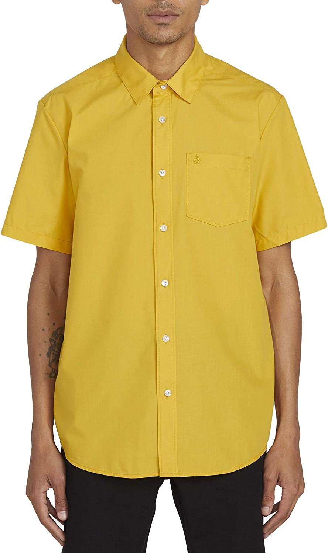 Volcom Cj Collins S/S Camisa, Hombre, Gold, L : Amazon.es: Ropa