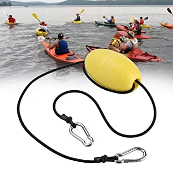 Strong 30ft Kayak Drift Anchor EVA Buoy Tow Rope Tow Line Throw Line /& Clips