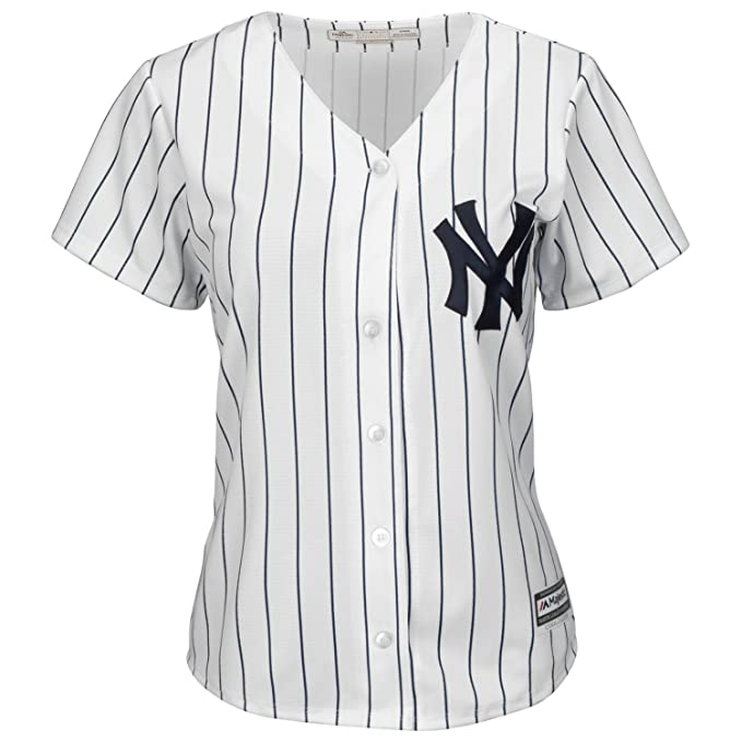 Majestic Athletic New York Yankees Cool Base MLB Replica Jersey Pinstripe Baseball  Trikot Tee T-Shirt  Amazon.es  Ropa y accesorios 2ea75d379c9