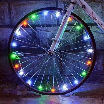 azornic bicicleta rueda luz cadena marco luces 2 unidades, resistente al agua bicicleta rueda luces