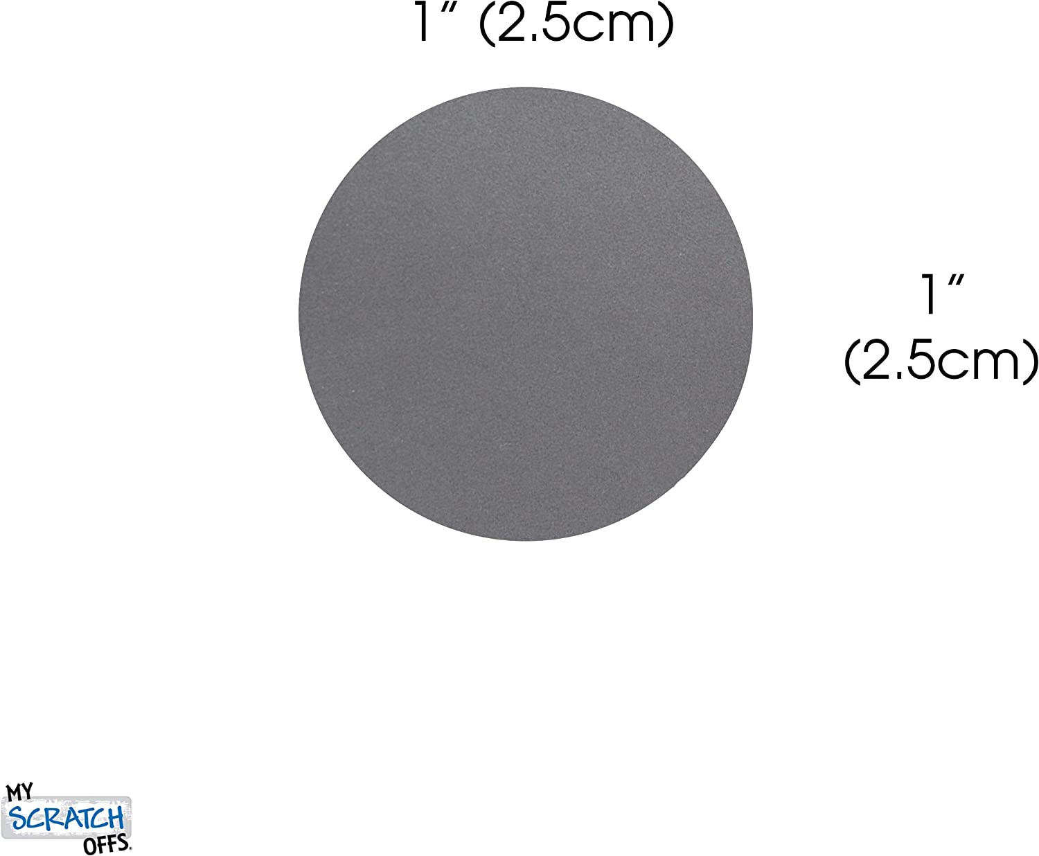 510 Pack 1 Silver Scratch Off Stickers Labels Round Circle for DIY Peel