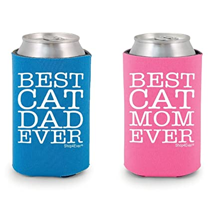70315e5fcc ... Blue-Pink   Shop4Ever Best Cat Dad Ever   Best Cat Mom Ever Can Coolie  Couples Drink Coolers Coolies Blue-Pink Online at Low Prices in India -  Amazon.in