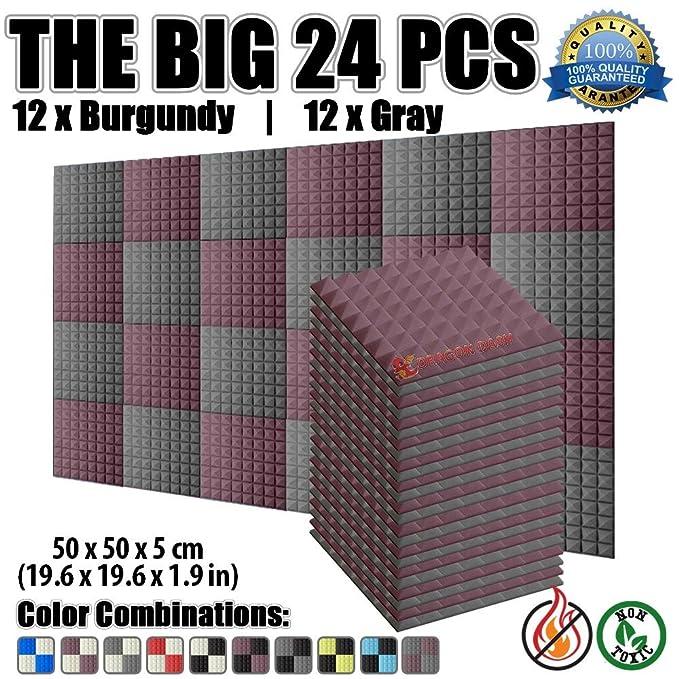 2 opinioni per Super Dash Pacco da 48 di 25 X 25 X 5 cm Piramidali Fonoassorbenti Isolanti