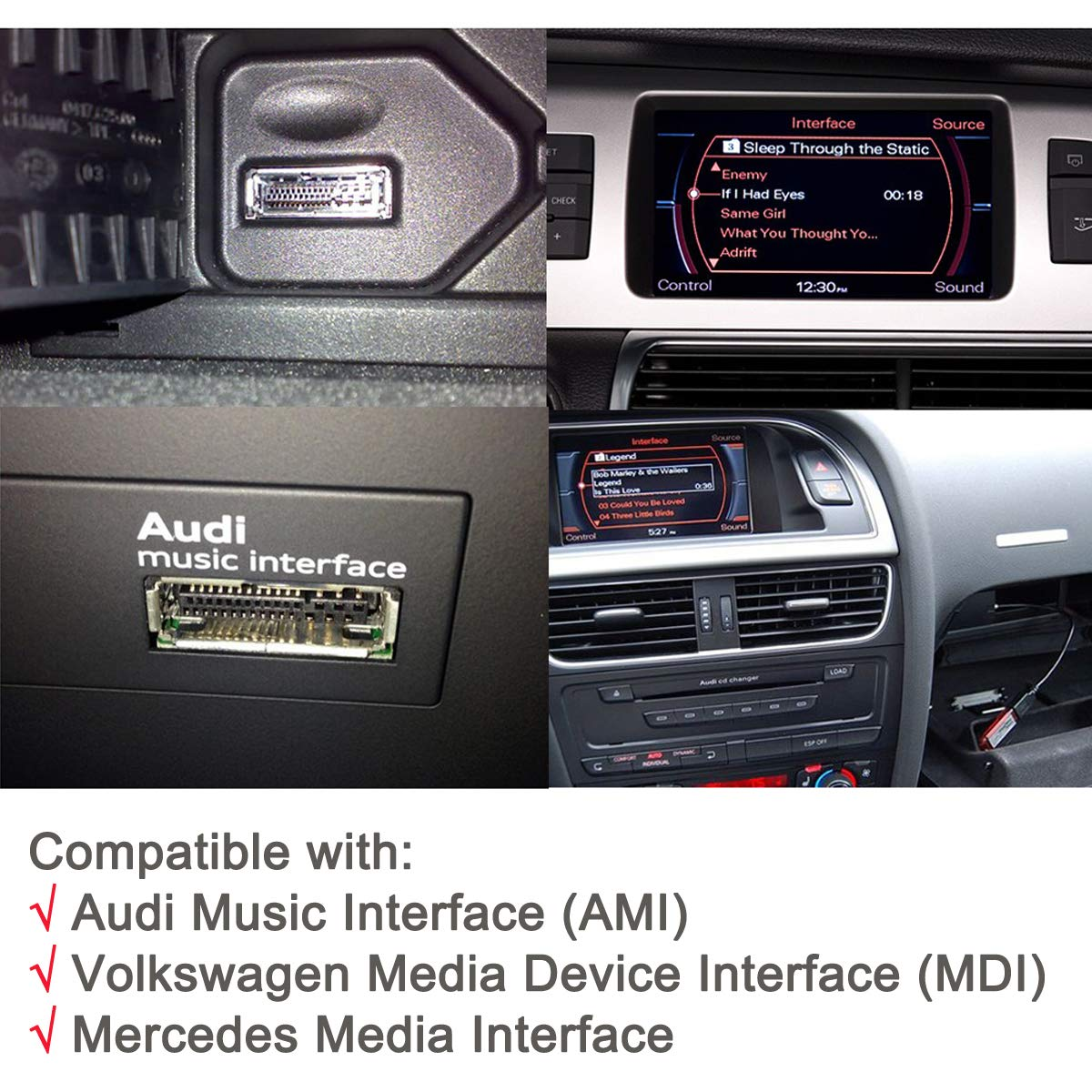 VW Mercedes CHELINK Bluetooth Car Kit AMI//MDI//MMI Music Interface Adapter for in Car iPod Integration fit for Audi