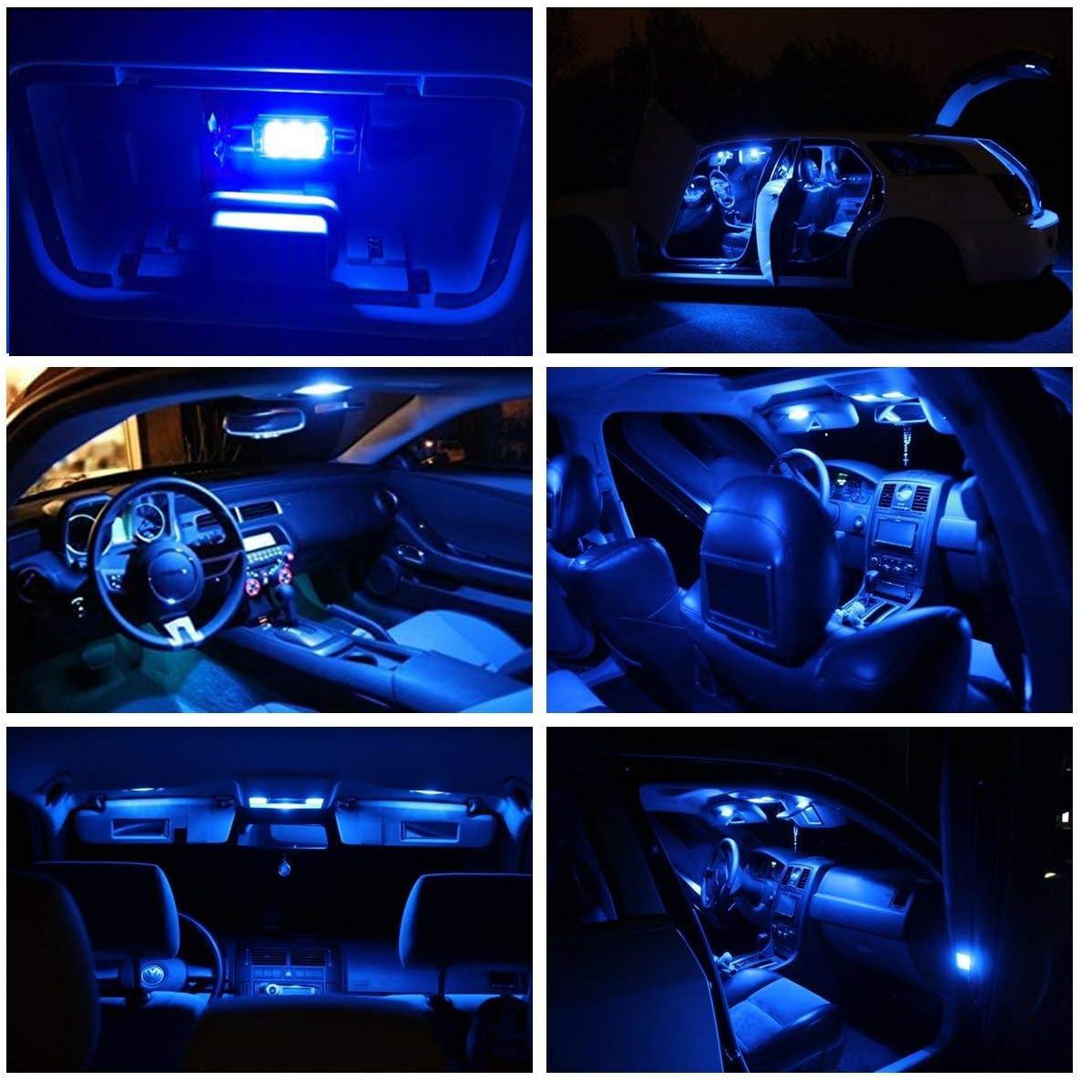 BIOENGIE Lumi/ère int/érieure de voiture LED T10 W5W 194 35mm 41mm Festoon BA9S lumi/ère Canbus sans erreur int/érieur Lampes Bleu, 10PCS