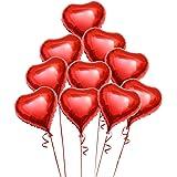 PIXNOR 10 Piezas Globos de Corazón Rojo