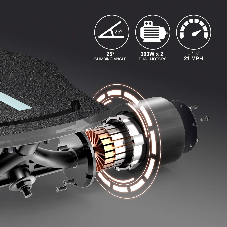 Amazon.com: Macwheel MR1 - Monopatín eléctrico potente de ...
