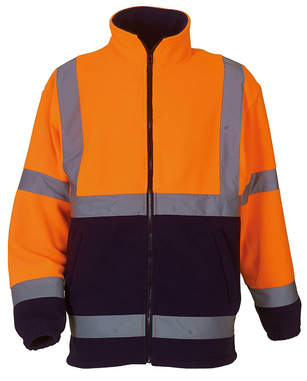 4 Colours//Sml Yoko Hi Vis Heavyweight Fleece Jacket 3XL