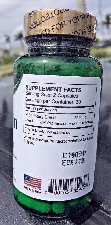 Amazon.com: BioSpirulin Plus AFA (Aphaminozen Flos - Aquae) Dietary Supplement Espirulina: Health & Personal Care