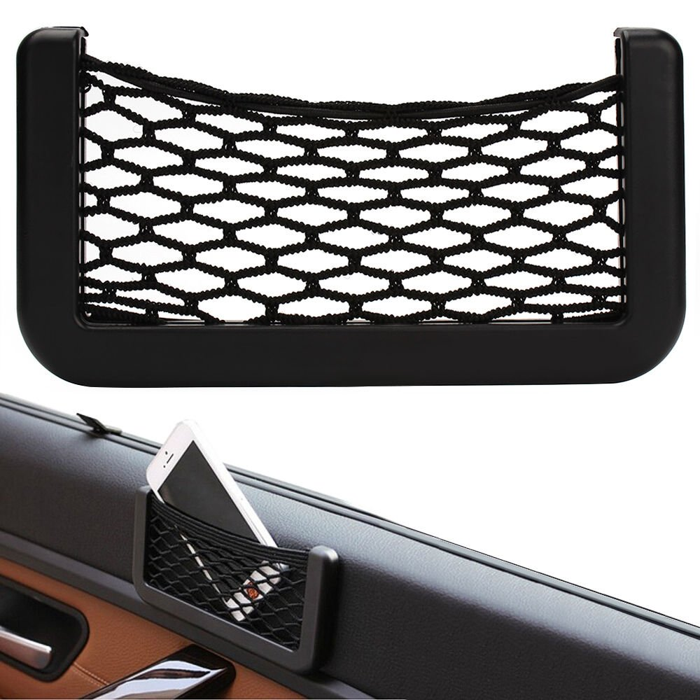 Car String Bag Mesh Phone Holder Organiser Pocket Trunk Cargo Net Network Pouch Upper Tech Uk