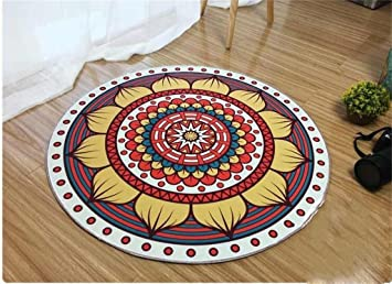 QAZ Hochwertige Super Weiche Decke Nordic Pastoralen Stil Rundschreiben Wohnzimmer  Teppich Teppich Mode Yoga Mat Rutschfeste
