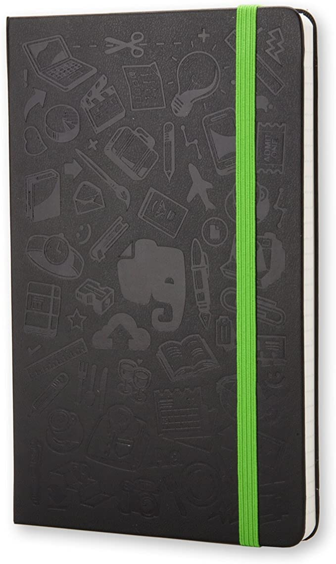 Moleskine Evernote Ruled Smart Notebook Large Black Hard Cover 5 1 X 8 3 Inches Moleskine Office Products