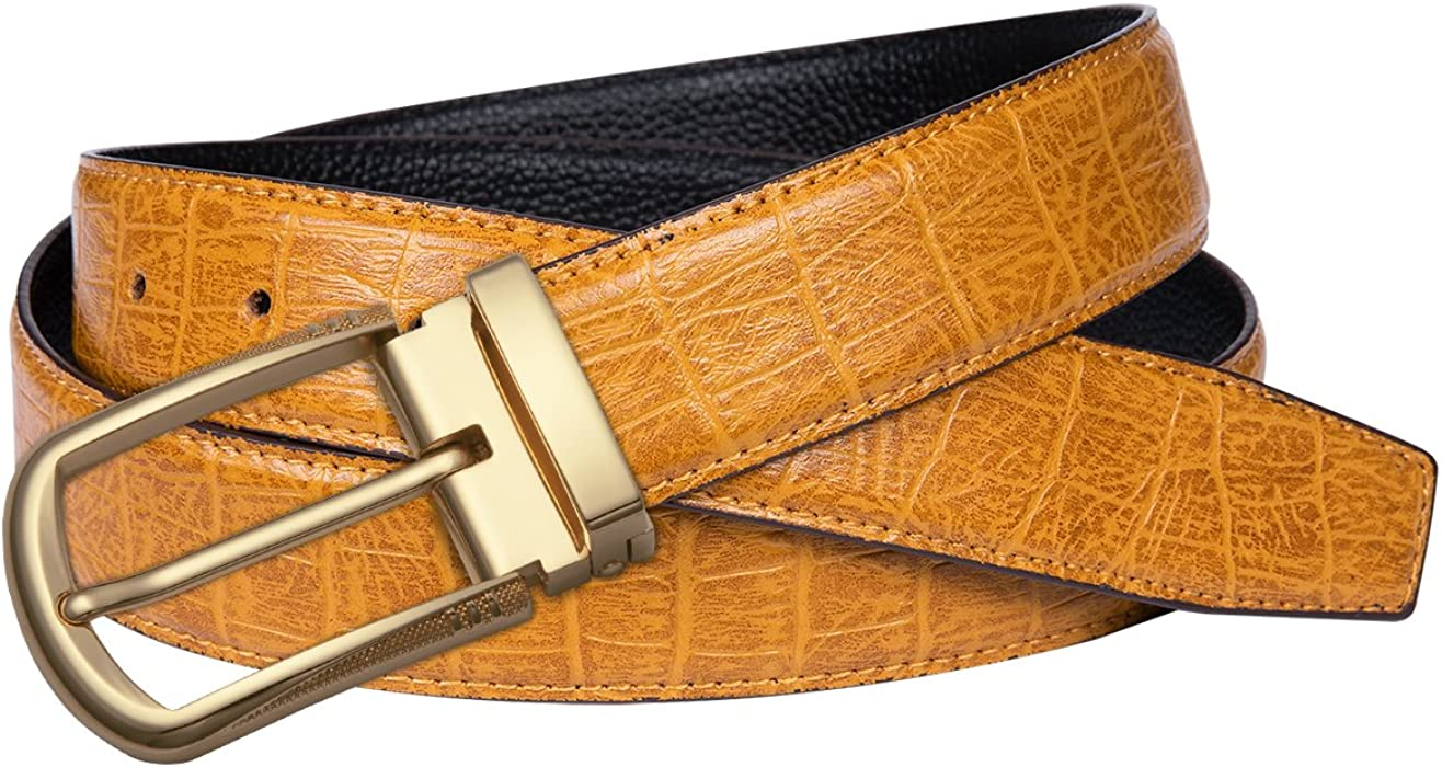 New Men Cow Genuine Leather Casual Single Prong Belt Business Dress Metal Buckle