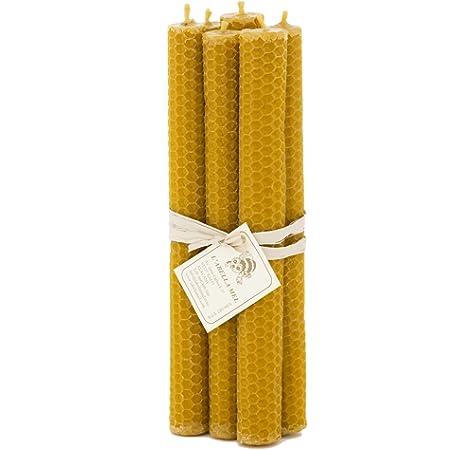 LAbella 100% velas de cera de abeja de España – Producto natural puro – directamente del apicultor – aroma a miel – hecho a mano – 6 velas con aprox. 20 cm x 2 cm: Amazon.es: Iluminación