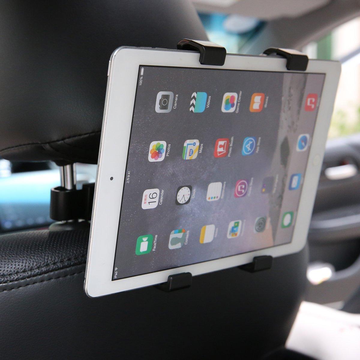 Audew Supporto Tablet Universale Auto Regolabile Rotazione di 360° Poggiatesta Sedile Posteriore Auto per iPad Mini/2/3/4, iPad Air, iPad PRO, Samsung Galaxy Tab, Tab PRO, e Tablet da 7-12 Pollici AUDEWixnDfMyC5