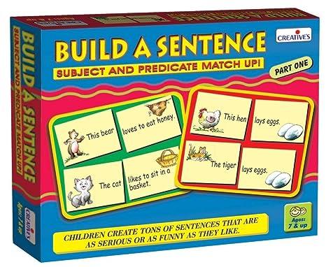 StonKraft Preescolar inglés Juguetes de Aprendizaje - Construir una oración | Juguetes educativos | Juegos a