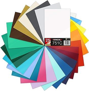 Finest Folia 25 hojas DIN A4 29,7 x 21 cm Oracal 751C Lámina para ...