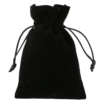 10 piezas Pequeñas Bolsas de Terciopelo 10x15cm Negro ...