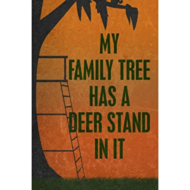 iCandy Combat Aluminum Metal My Family Tree Has A Deer Stand in It Quote Picture Man Cave Wall Decoration Funny Humor Hunting Sign
