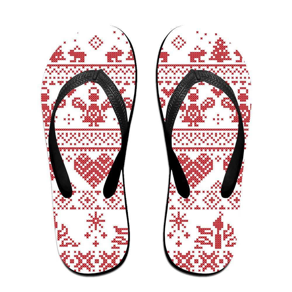 Unisex V Flip Flops Nordic Christmas Seamless Personalized Summer Slipper